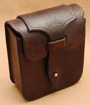 Sam Browne leather bag with latch Leather Carving, Leather Art, Custom Leather, Leather Design, Leather Tooling, Leather Belt Pouch, Leather Briefcase, Leather Pattern, Leather Bags Handmade