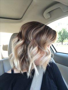 Loving this Brown to Blonde short bayalage! @hairby_jade