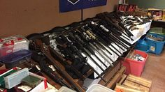 Illegal weapons confiscated by authorities | Image source: Cbsboston.com