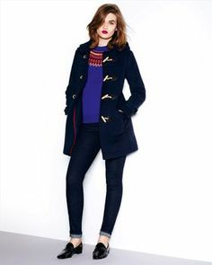 Duffle Coat,Navy,original - 2
