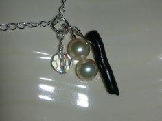 black coral, pearl, and crystal charm2   por JohannaBF