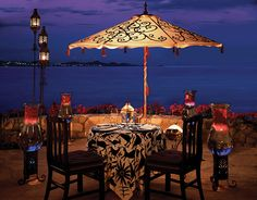 Private dining at One & Only Palmilla. Los Cabos.