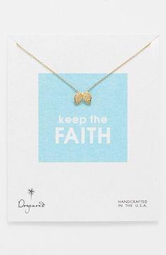 Dogeared 'Reminder - Keep the Faith' Boxed Pendant Necklace available at #Nordstrom