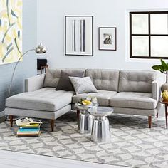 Peggy Mid-Century Chaise Sectional