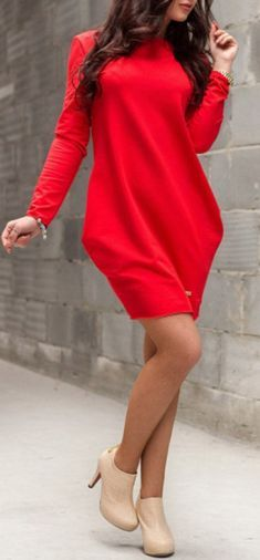 Rochie casual rosie cu buzunare Mini, Style Inspiration, Christmas Sale, Long Sleeve, Casual, Sweaters, Fashion Design, Outfits, Shopping