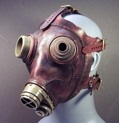 Steampunk Gas Masks & Helmets So Exquisite, They'll Leave You Breathless. Steampunk Gas Mask, Steampunk Cosplay, Plague Mask, Paper Mache Mask, Bizarre, Last Supper, Neo Victorian, Dieselpunk, Historical Clothing