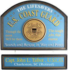 Northwest Gifts - U.S. Coast Guard Sign Personalized, $99.95 (http://northwestgifts.com/u-s-coast-guard-sign-personalized/)