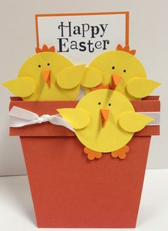 Easter Punch Art Chicks Stampin Up Card Kit 5 Cards | eBay