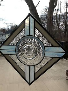 Stained Glass Window Panel Opalescence Plate with Bubble Glass