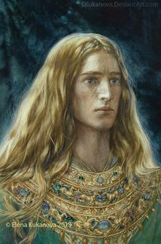 Finrod The scene of abdication Here I would like to present a concept of Nauglamir. I took the description of jevellery from Leithian-based fan-no. Legolas, Elvish, Jrr Tolkien, Magical Creatures, Middle Earth, Lotr, Fantasy Characters, The Hobbit, Character Art