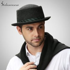 Male Fedora Hat Classic Style For Formal Church Hat With Australian Wool felt Hats for Men FM023017