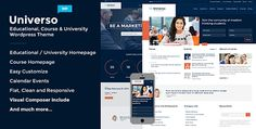Universo v2.0.4  Powerful Education Courses & Events  Blogger Template