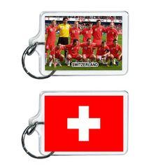 Switzerland Soccer Flag 2014 Team Player Acrylic Keychain 2 x 1 | www.balligifts.com