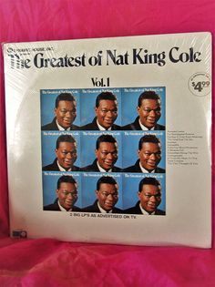 The Greatest of Nat King Cole Set of 2 Vinyl Records Stereo S Old Vinyl Records, Nat King, King Cole, Lps, Songs, Ebay, Old Records, Song Books