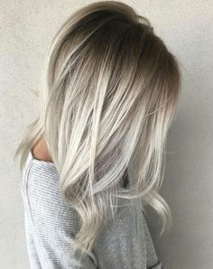 Winter blonde. Smudge the roots and go icy