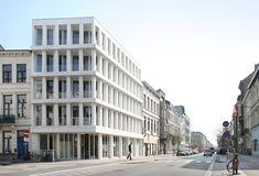 Montigny mixed use building by Belgian office Meta Architecten.