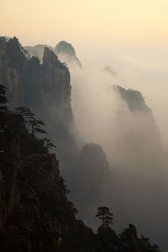 Mist-erious Yellow Mountains; photograph by Danny Matthys
