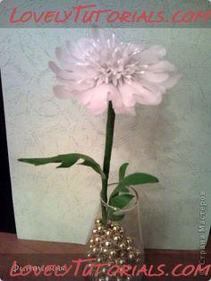 "МК лепка цветок ""Скабиоза"" -Gumpaste (fondant, polymer clay) Scabiosa flower making tutorials - Мастер-классы по украшению тортов Cake Decorating Tutorials (How To's) Tortas Paso a Paso"
