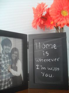Chalkboard paint picture frame! All I did was paint the glass on ...
