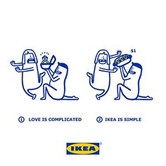 Cute Illustrations Show How Complicated Love Is Made Simpler With IKEA Products Creative Review, Ads Creative, Creative Advertising, Creative Director, Ikea Ad, Complicated Love, Troubled Relationship, Love Is, Love Problems