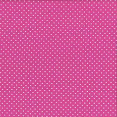 Mini Dots - White on Pink - Stenzo Jersey Knit