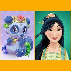 Mulan with Blossom (panda) | Disney Palace Pets