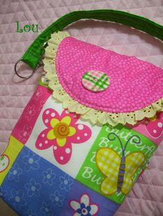 https://www.etsy.com/treasury/MTY0MjQ0MTJ8MjcyNDgwMzI5OA/rainbow-of-colors-aha-a..  Pink Patchwork Butterfly Diaper Pouch by BagsBeadsandMore on Etsy, $15.00