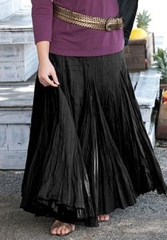 fffbaae066a long flowing cotton skirt Plus Size Skirts