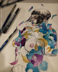 Quase lá  Ainda não terminei mas fiquem aí com um prévia da minha menina . #art #illustration #drawing #draw #picture #photography #artist #sketch #sketchbook #paper #pen #pencil #artsy  #instagood #gallery #masterpiece #creative  #artoftheday #art_