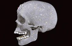 For the Love of God by Damien Hirst, 2007, a platinum cast of a human skull covered with diamonds
