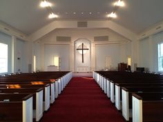 Brand NEW sanctuary of the New Albany Presbyterian Church in Ohio! Church Interior Design, Church Stage Design, Sky Blue Paint, Old Country Churches, Modern Church, Church Architecture, Cathedral Church, Church Building, Building Design