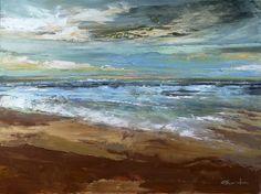 "Saatchi Online Artist: Eva Czarniecka; Oil 2013 Painting ""Beach Scene """