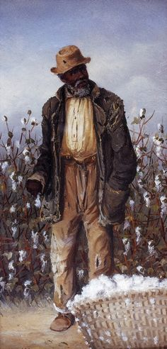 Old Negro Man with Basket of Cotton William Aiken Walker kK African American Artist, African American History, American Artists, Black Art Painting, Black Artwork, Art And Illustration, Black Love Art, Black Man, Black Art Pictures