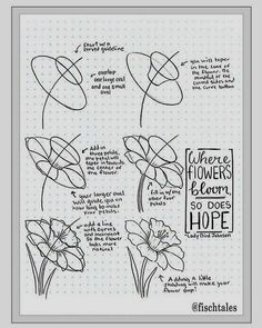Learn how to draw flowers step-by-step easy way and turn them into wall art for decorating your home. Several guides and drawing tutorials for beginners. Easy Flower Drawings, Easy Drawings, Art Drawings Beautiful, Beautiful Wall, Drawing Tutorials For Beginners, Wall Art Crafts, Cool Wall Art, Step By Step Drawing, Cool Walls