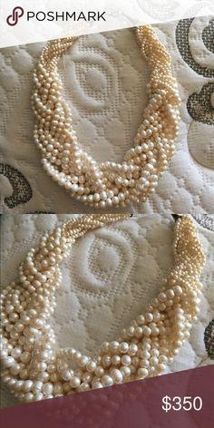 Multilayered Pearl Necklace Beautiful elegant real pearl necklace Jewelry Necklaces