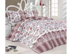 Полуторное постельное белье Classi Saritta Iffet 145х210 изготовлено из бязи. Застеленная белая кровать с ажурным изголовьем