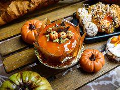 French Caramel Autumn Gateau - 12th Scale Miniature Food