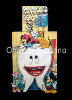 """""""Wear Your Retainer""""(9"""" x 16"""") - 3D one-of-a-kind original works by Charles Fazzino for the Dental Industry. #popart #3dpopart #charlesfazzino #dentist"""