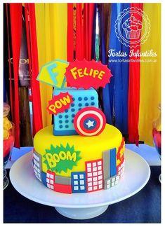 Torta de Superheroes