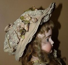 Antique French Doll Hat- Bunny's Babies #dollshopsunited