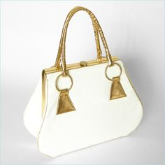 Love the gold and patent leather on this vintage Kruger handbag from ModBag.com