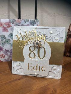 80th birthday card 80th Birthday Cards, Decorative Boxes, Home Decor, Decoration Home, Room Decor, Interior Decorating