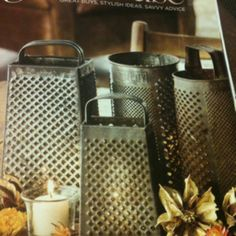 Antique graters as lanterns!