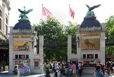 De historische dierentuin de zoo van Antwerpen