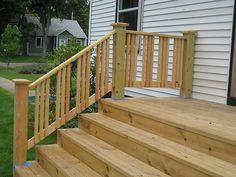 like the railing style - Patio Handrail Ideas