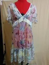 BUY IT NOW! 25% OFF! 100% Silk Chiffon Dress Empire Waist New Look Limited Edition JR Size 11