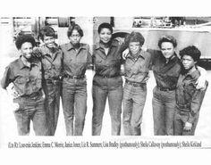 """Atlanta's 1st female firefighters in 1977."""