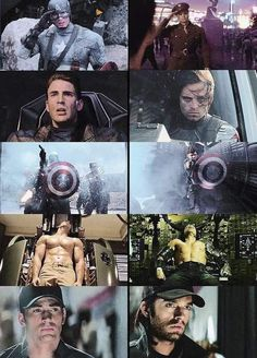 The parallels between Steve and Bucky. | Well, now I'm gonna be sad for the rest of the day.