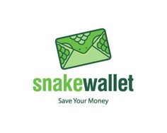 Logo Design for Sale!! Green Snake Wallet - Save Your Money - Available to customize your brandname and tagline - Grab it fast !!! Price $300.00