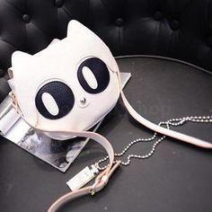 Women-Satchel-Shoulderbag-Cute-Cat-Eyes-Synthetic-Leather-Crossbody-Bag-Handbag